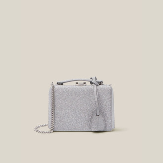 Mark Cross Metallic Grace Mini Glitter Leather Crossbody Bag