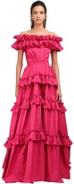 ZUHAIR MURAD OFF-THE-SHOULDER TAFFETA GOWN