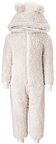 John Lewis Children's Fleece Bear Onesie, Beige