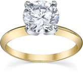 JCPenney FINE JEWELRY Diamonore Simulated Diamond 2 CT. Solitaire Ring