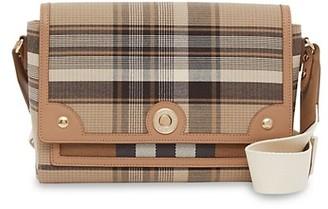 Burberry Medium Note Tartan Wool Crossbody Bag