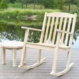 Coleman Loon Peak Classic Outdoor Teak Rocking Chair Loon Peak Color: White