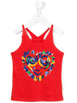 Stella McCartney heart print tank top - kids - Cotton/Viscose - 4 yrs
