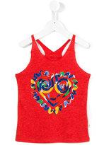 Stella McCartney heart print tank top - kids - Cotton/Viscose - 4 yrs
