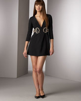 Karta Jeweled-Waist Dress