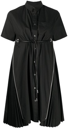 Sacai Side-Zip Pleated Dress