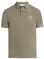 Stone Island Short-sleeved Cotton-piqué Polo Shirt