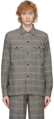 ts(s) tss Yellow and Navy Check CPO Shirt