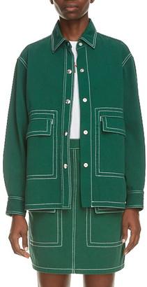 Kenzo Contrast Stitch Military Shirt