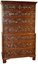 One Kings Lane Vintage 18th C. English Carved Chest on Chest