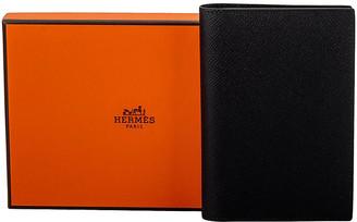 One Kings Lane Vintage Hermes BNIB Black Passport Cover Unisex - Vintage Lux