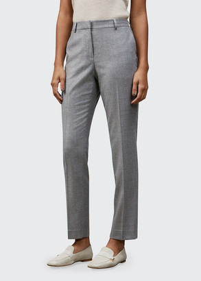 Lafayette 148 New York Clinton Timeless Italian Wool Silk Suiting Ankle Pant
