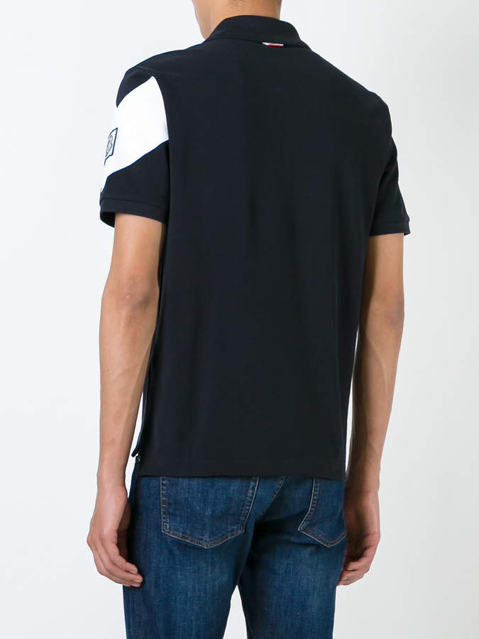 Moncler Gamme Bleu logo print polo shirt
