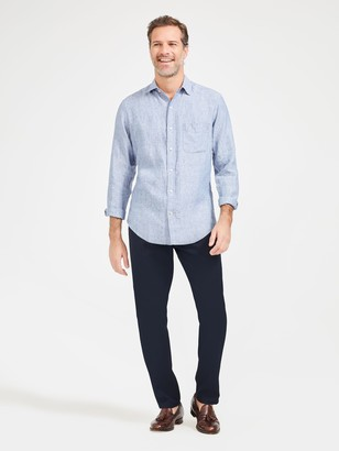 J.Mclaughlin Gramercy Classic Fit Linen Shirt in Dobby