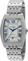 Peugeot Mens Roman Tonneau Silver-Tone Watch