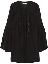 Rachel Zoe Helen Silk Crepe De Chine Mini Dress - Black