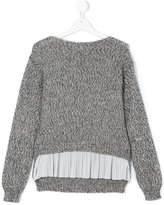 Dondup Kids pleated detail jumper