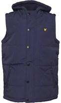 Lyle & Scott Boys Hooded Gilet Deep Indigo