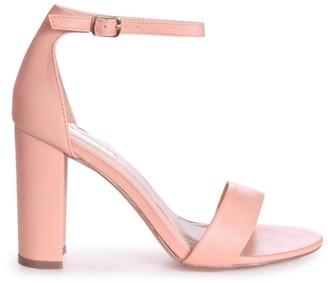 Linzi SELENA - Peach Nappa Barely There Block High Heel