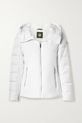 Fusalp Roxane Hooded Quilted Down Ski Jacket - White