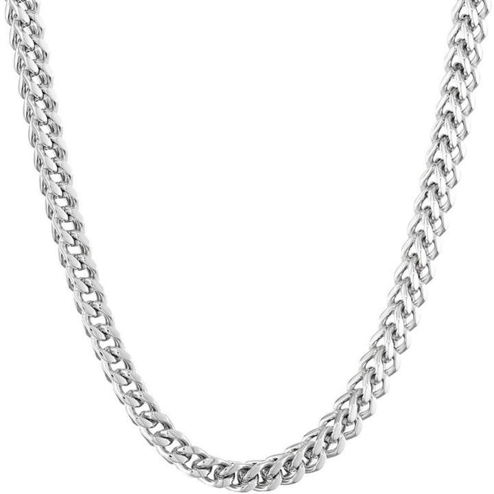 JCPenney FINE JEWELRY Mens Stainless Steel 22 6mm Foxtail Chain