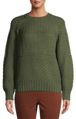 Time and Tru Women's Mixed Stitch Sweater