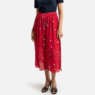 Naf Naf Midi Length Buttoned Skirt