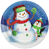 Winter Fun Paper Plates - Set of 24