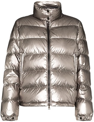 Moncler Quilted Metallic Down Jacket