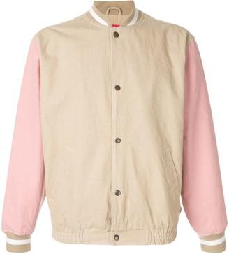 Supreme contrast sleeve bomber jacket