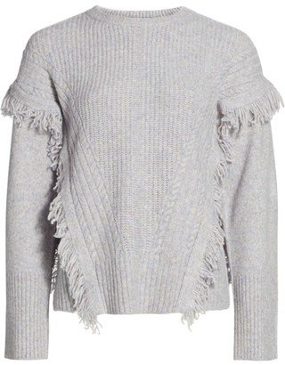 Design History Fringe Trim Sweater