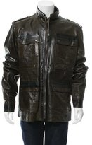 Dolce & Gabbana Leather Utility Jacket w/ Tags