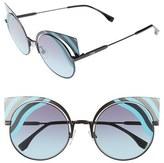 Fendi Women's Hypnoshine 53Mm Cat Eye Sunglasses - Matte Blue/ Green