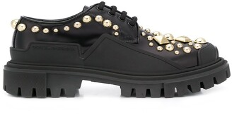 Dolce & Gabbana Stud-Embellished Lace-Up Shoes