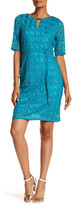 Sandra Darren Metallic Lace Dress
