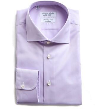 Emanuele Maffeis S.R.L. Maffeis No Wrinkle Dress Shirt in Lavender Solid