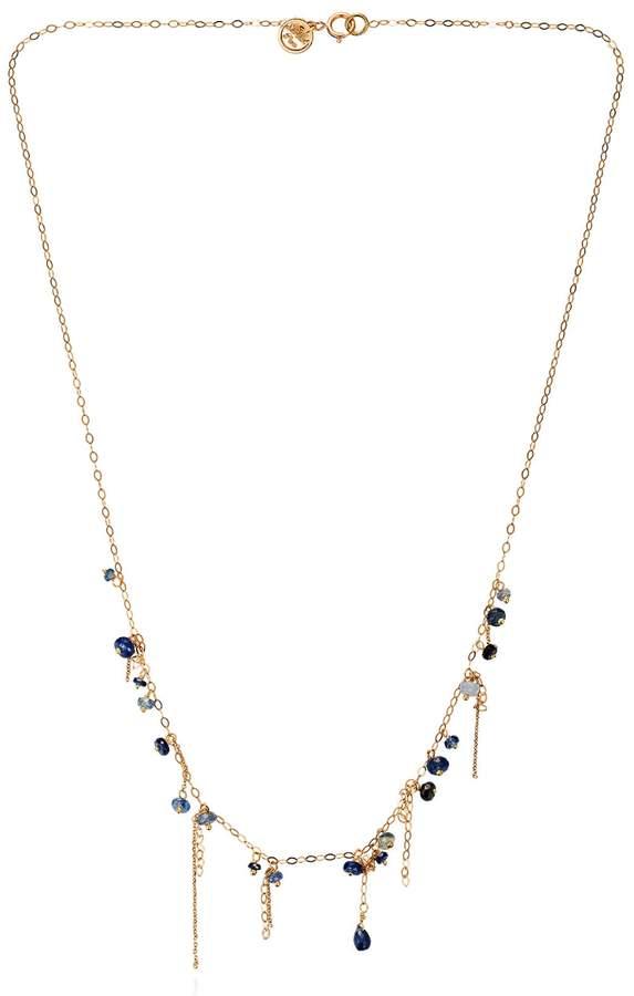 Sweet Pea Pogo Punk Blue Sapphire Necklace