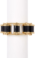 House Of Harlow Polished Black Tourmaline Statement Bracelet