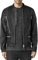 AllSaints Sanderson Leather Regular Fit Moto Bomber Jacket
