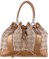 MCM Patent Leather-Trimmed Tote