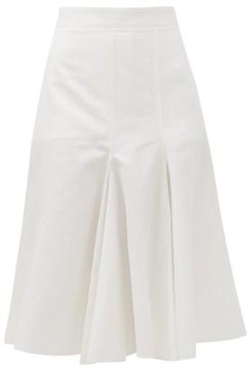 Joseph Barton Flared-panel Cotton-blend Skirt - Womens - White