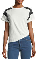 Rag & Bone Short-Sleeve Cotton Tee with Panel Detailing