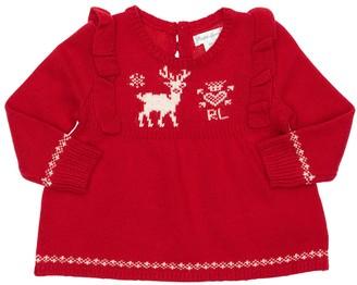 Ralph Lauren Viscose Blend Tricot Knit Sweater
