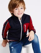 Marks and Spencer Cotton Zip Through Sweatshirt with Stretch (3 Months - 5 Years)