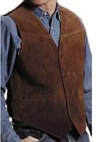 Roper Men's Suede Buckle Tie Vest - 02-075-0500-0513 BR