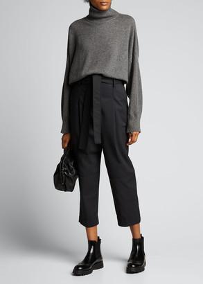 Loulou Studio Cashmere Drop-Shoulder Turtleneck Sweater