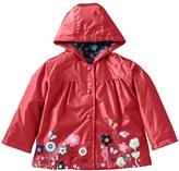 Mingao Girls Raincoat Flower Waterproof Hooded Warm Outdoors