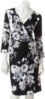 Apt. 9 floral faux-wrap dress