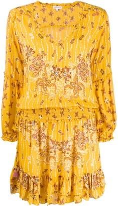 Poupette St Barth floral-print mini dress