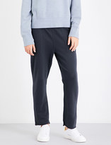 Rag & Bone High-rise tapered cropped cotton-jersey jogging bottoms
